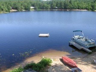 Waterfront Family Fun on Danforth Pond; Boat to Ossipee Lake