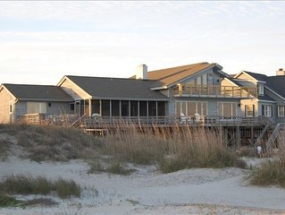 Classic Beachfront Sullivan's Island Home with Pool & Hot Tub