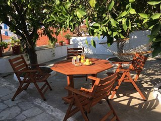 Traditional, authentically Greek house located short walk from the port