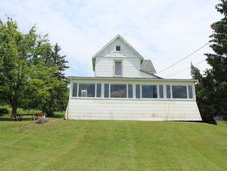Beautiful Lake views from this charming 1900 farmhouse  on the hill