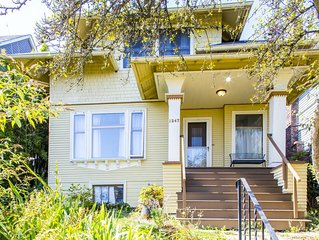 2.3 miles to downtown, U of W. Parking. Near bus and park. Classic Seattle home