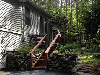 Family friendly lakehouse getaway just steps away from the lake.