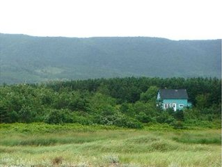 Cape Breton Waterfront Home Rental, Mountain and Ocean Views, Private Beach