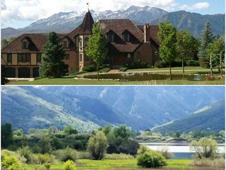 Magical 10,000sqft Lakefront Mins to Snowbasin & Powder Sleeps 24 6 Bdrms, 5 bth