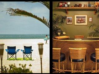 RETRO BAMBOO BEACH LOUNGE w/ocean views, FREE - Parking, WiFi, Bikes, Boards etc