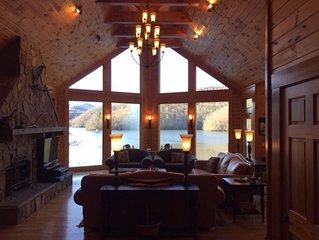 'Trout Haven' - Gated Luxury Lakefront Vacation Retreat on Lake Nantahala, NC