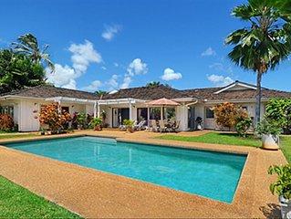 A/C! Solar Pool Heating 65' OLED!  Kiahuna Paradise Special $475/nt 3/1 - 5/28!
