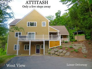 Attitash slopes footsteps away! Hot tubs, pool, health club access included!