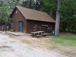 Cabin 1:  3 double beds 1 bath sleeps 6