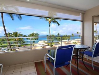SPECTACULAR OCEAN VIEW, Across from Kamaole beach 1,Kihei 3 bedroom,comfortable