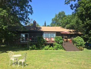 20 minutes from Rhinebeck, setting in 15 acres, contemporary elegant ranch ..