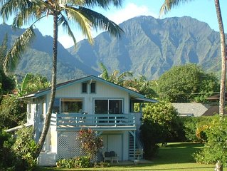 Great location! Sweet home! 2 minute walk to Hanalei beach. Bikes too! TVNC1320