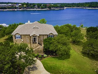 Texas Hill Country Style with Deep Water Private Boat Dock on Lake Travis,Texas!
