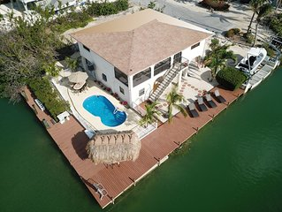 Deep Water Corner Canal Lot with Heated Pool, Tiki Hut & 240' Dock