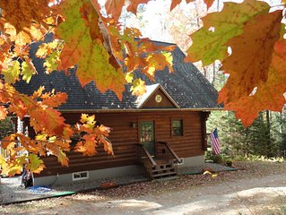 Log Home in Forest Setting, with Lake Privileges *  Mountain Lakes Community