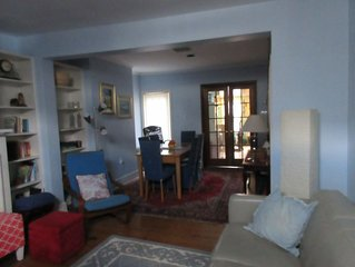 Comfortable townhome steps to Georgetown's top spots w parking + garden