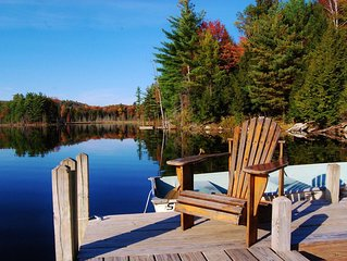 Secluded Adirondack Lakefront Retreat- Running Deer Lodge