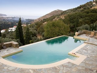 On A Lush Hill A Secluded Country Home With Infinity Pool And Endless View