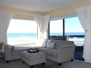 Top level, premium oceanfront condo with 180° unobstructed ocean view