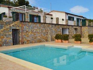 Villa Nemo, Liguria, perfect sea view and private pool, 5 minutes to the beach