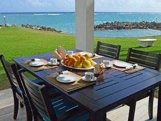 Fantastic 2BR seafront premium apartment with beach cove, pool near Ocho Ri
