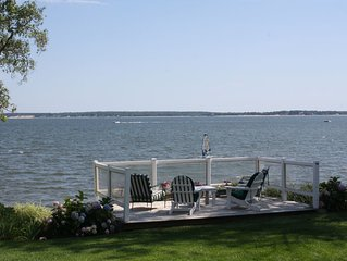 The Hydrangea House - Beautiful Home With a Private Beach On Peconic Bay