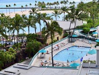 Beach front condo in luxury Ilikai hotel Waikiki