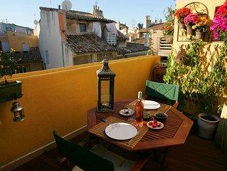 Appartement de charme avec 2 terrasses en plein coeur du centre historique d'Aix