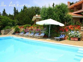 Villa Azzurra con piscina, incanto tra Costa d'Argento e Maremma