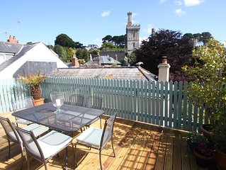 Private decking area & Central location  within 5 min walk of town.