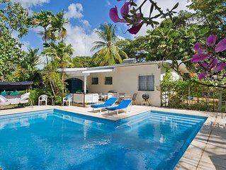 Lazy Days, Holetown, 2 bed, 2 bath, Villa with own 30ft swimming pool