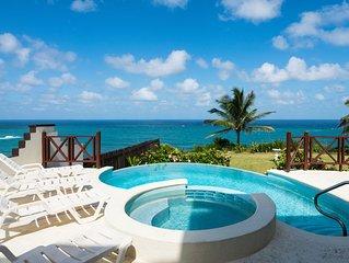 5 Bedroom ocean front villa fantastic views, Pool  overlooking cliff