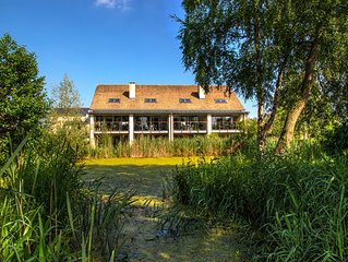 Contemporary Glass Fronted Lakeside Villa, With On-site Luxury Spa!