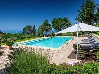 VILLA MARIO' con piscina per 7 persone 4camere da letto a cefalù, con Wifi