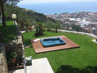 Bordighera  villetta di charme giardino con jacuzzi e strepitosa vista mare
