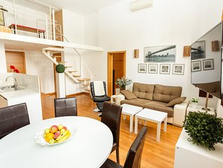 Fantastic 1 Bedroom with high ceilings in historic building.