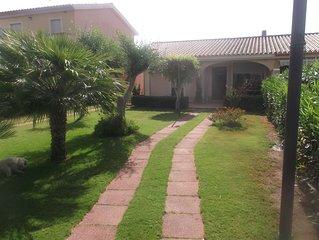 Capoterra: Casa con giardino costa di Pula