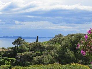 Villa vue mer dans Domaine prive  du Gaou Benat - Bormes les Mimosas-