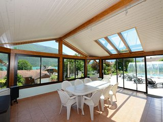 Villa with pool located next to Lac d'Annecy with lake and mountain views