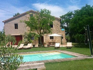 Beautiful Stone Farmhouse & Private Pool large garden & Free wifi. Sleeps 8.