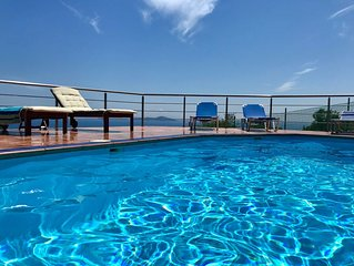 Seclusion & privacy in Alonissos Luxury Pool Villa. Stunning  sea view  & charm