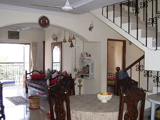Beautiful apartment in Panaji (Goa) with river and sea views