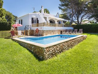 VILLA BINI SAMSARA - Ideal for families, fenced pool, close to Binibeca beach