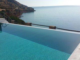 Crete, exceptional Villa directly on Plaka Beach, Gulf o. Mirambello
