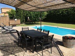 Maison Spacieuse , piscine, balneo, Billard au calme, ideal pour se ressourcer
