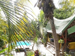 Villa 4 pers in tropical Nature