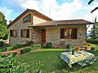 Charming Tuscany villa with private pool & garden ideal for families