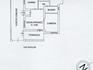 Casa con cortile e terrazzino, 2 camere letto, a 500 mt dal mare,con biciclette