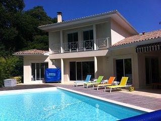 Très jolie villa familiale avec piscine au Pyla sur Mer près Moulleau 10 lits