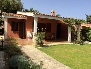 Splendida villa a 400 m dalla spiaggia di Campulongu, al limitare della pineta e